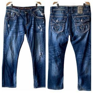 Rock Revival Steven Straight Distressed Jeans